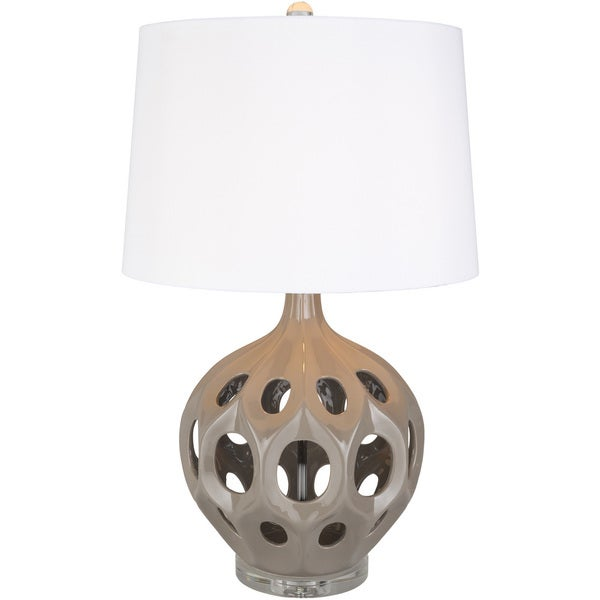 Vexacion Table Lamp with Grey Base and white Shade