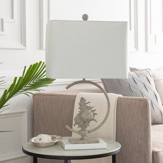 Archcrest Table Lamp with Grey Base and White Shade