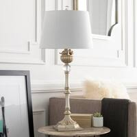 Benignus Table Lamp with Gold Base and Off-White Shade