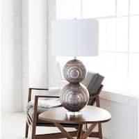 Newberry Table Lamp with Silver Base and White Shade