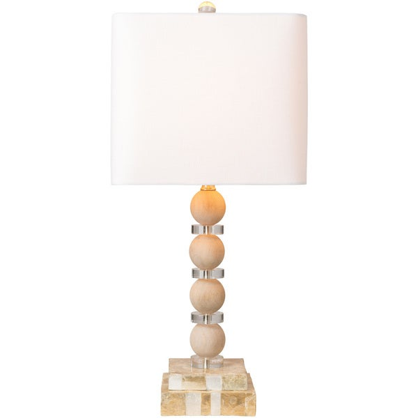 Arlinridge Table Lamp with Brown Base and White Shade