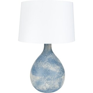 Magwina Table Lamp with Blue/Clear Base and Blue/Clear Shade