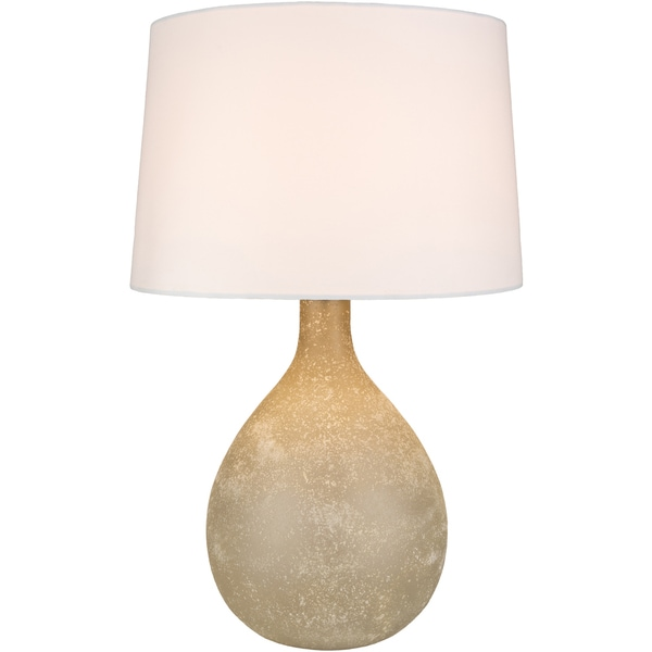 Anha Table Lamp with Grey/Clear Base and Grey/Clear Shade