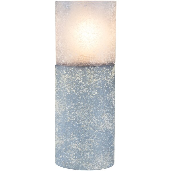 Jinelle Table Lamp with Blue/Clear Base and Blue/Clear Shade