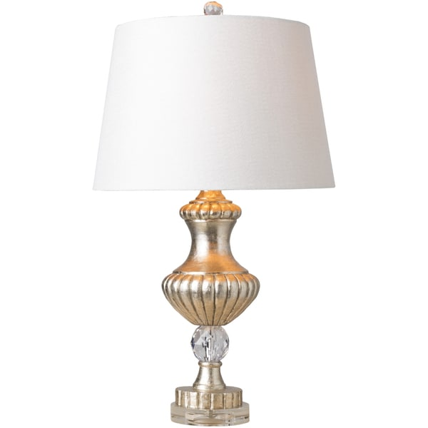 Montague Table Lamp with Brown Base and Off-White Shade