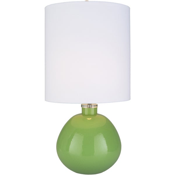 Mavato Table Lamp with Green Base and White Shade