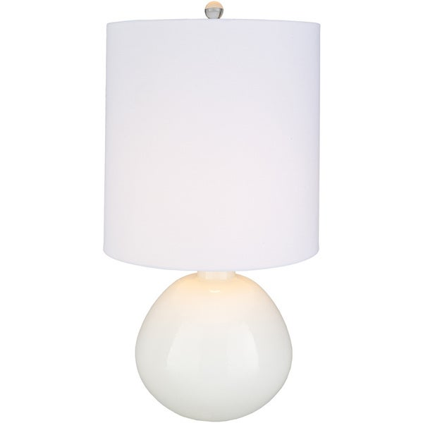 Ilvetrius Table Lamp with White Base and White Shade