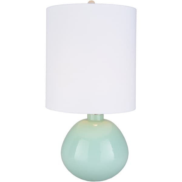 Casiel Table Lamp with Blue Base and White Shade