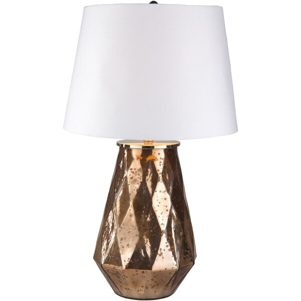 Bruxa Table Lamp with Gold Base and White Shade