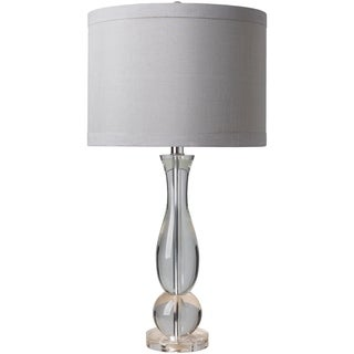 Olancha Table Lamp with Grey/Clear Base and Grey Shade