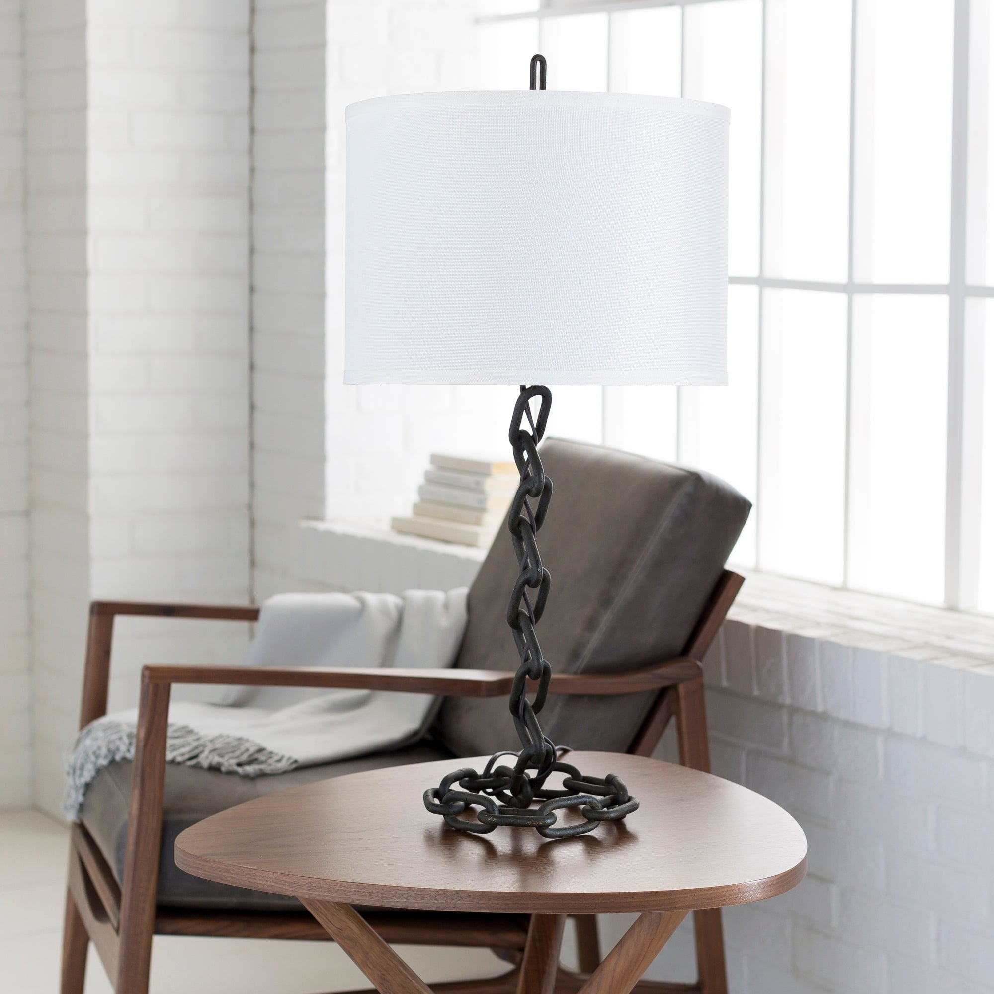 Zaanne table lamp with black base and white shade ebay zaanne table lamp with black base and white shade aloadofball Gallery