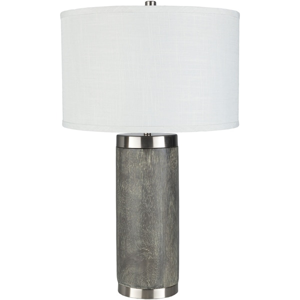 Dewvale Table Lamp with Grey Base and White Shade