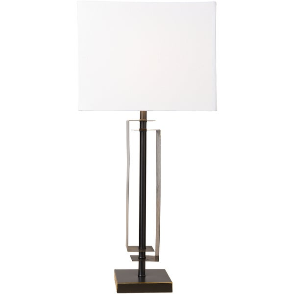 Bunbury Table Lamp with Black Base and White Shade