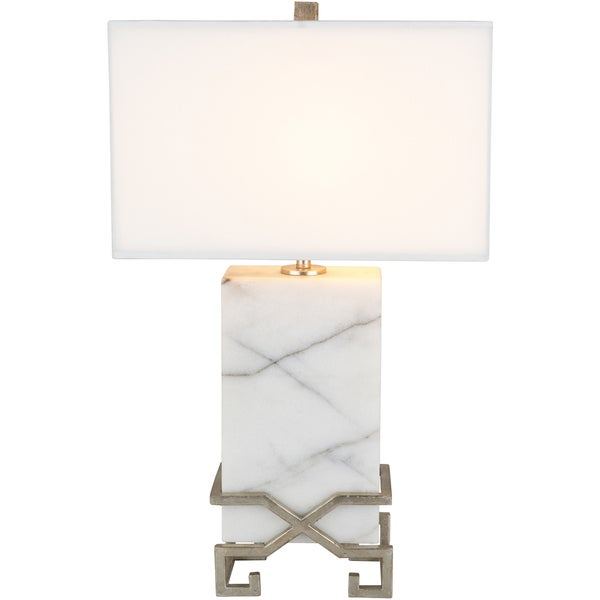 Dayine Table Lamp with White Base and White Shade