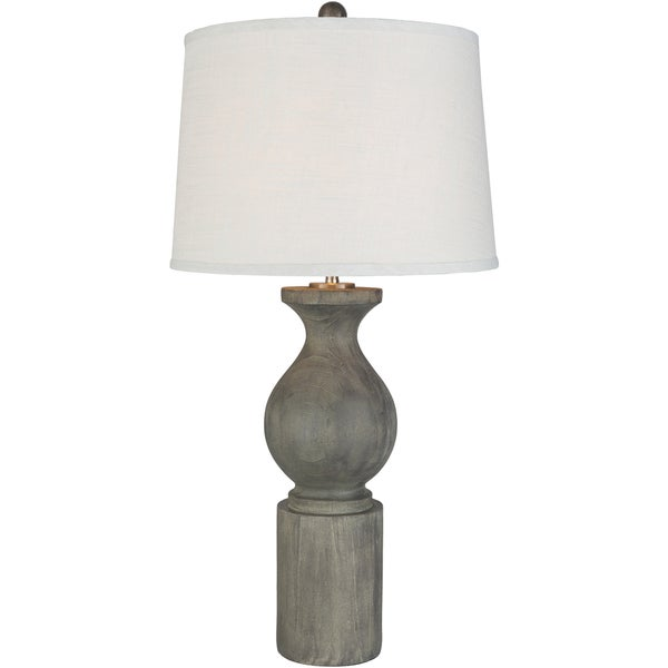 Zarar Table Lamp with Grey Base and White Shade