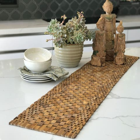 Handmade Teak Table Runner (Indonesia)