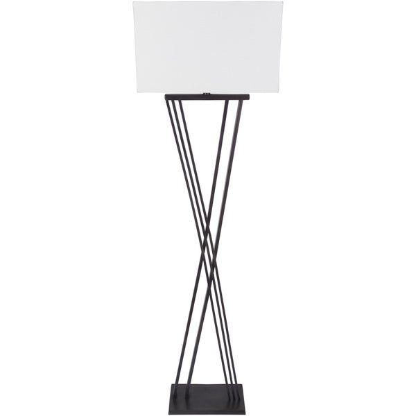 Deidra Table Lamp with Black Base and White Shade