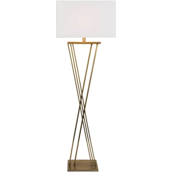 Jussen Table Lamp with Brown Base and White Shade