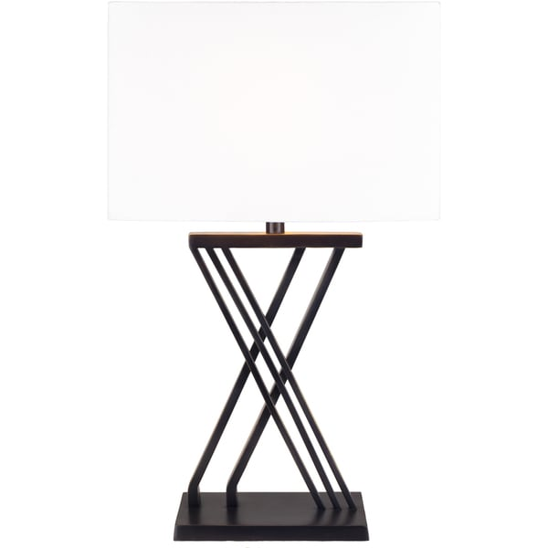 Josphine Table Lamp with Black Base and White Shade