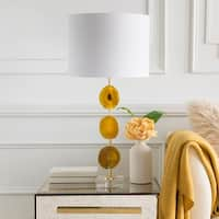 Sati Table Lamp with Yellow Base and White Shade