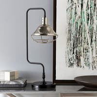 Phillippa Table Lamp with Black Base and Black Shade