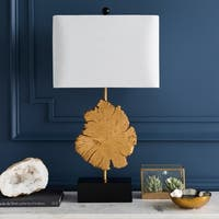 Brussels Table Lamp with Gold Base and White Shade