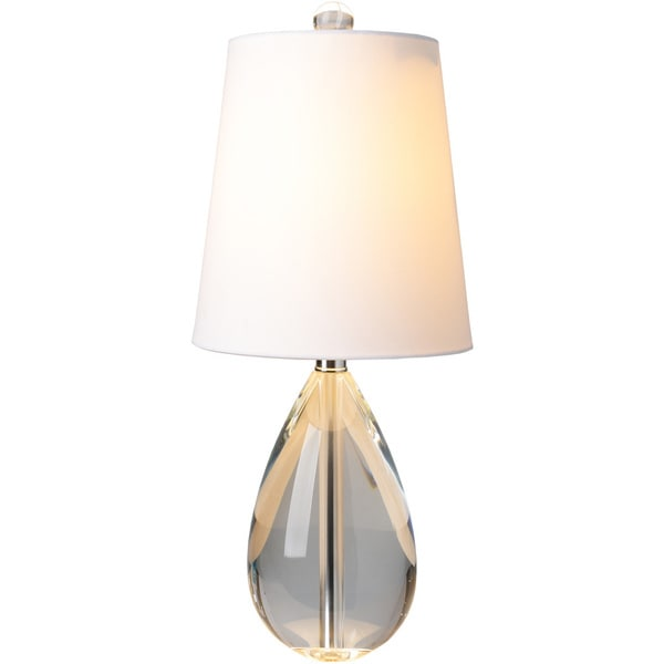 Salome table lamp with greyclear base and white shade free salome table lamp with greyclear base and white shade aloadofball Images