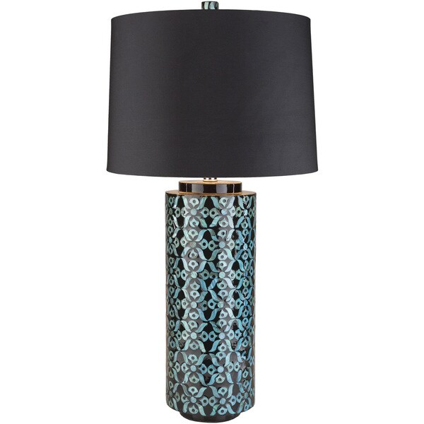 ChanchelullaPeak Table Lamp with Blue Base and Black Shade