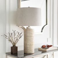 Stampes Table Lamp with Silver Base and Silver Shade