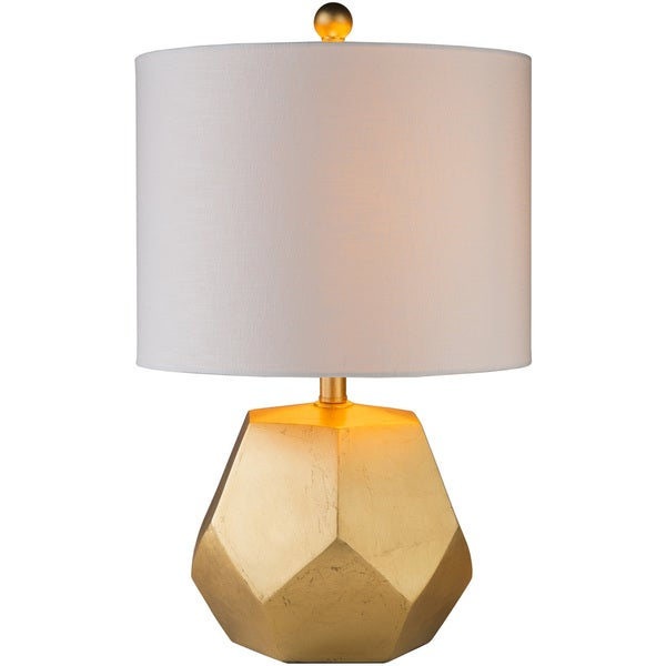 Naahs Table Lamp with Gold Base and Off-White Shade