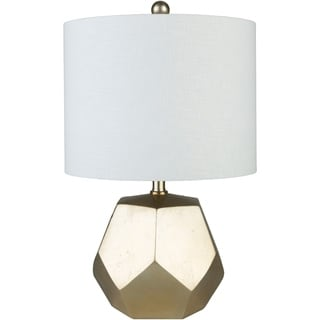 Shaan Table Lamp with Gold Base and Off-White Shade