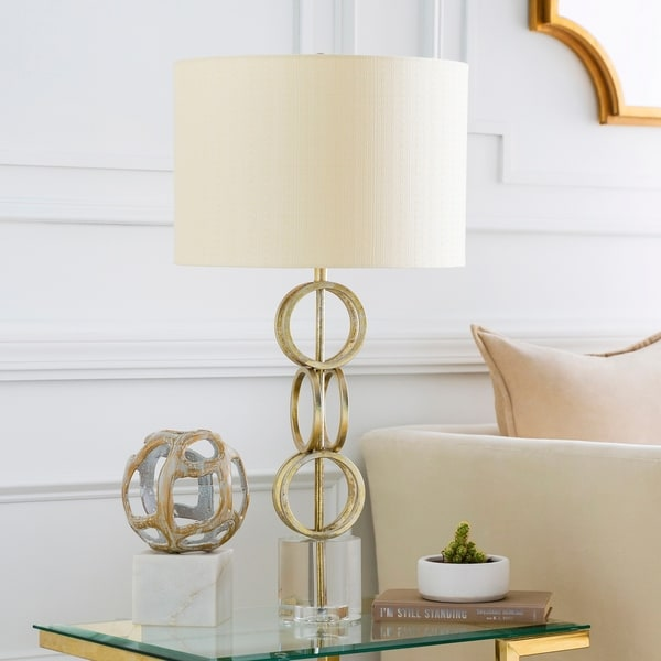 Shop Alcazar Gold Crystal Table Lamp On Sale Free Shipping