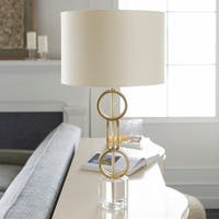 Alcazar Table Lamp with Gold Base and Gold Shade