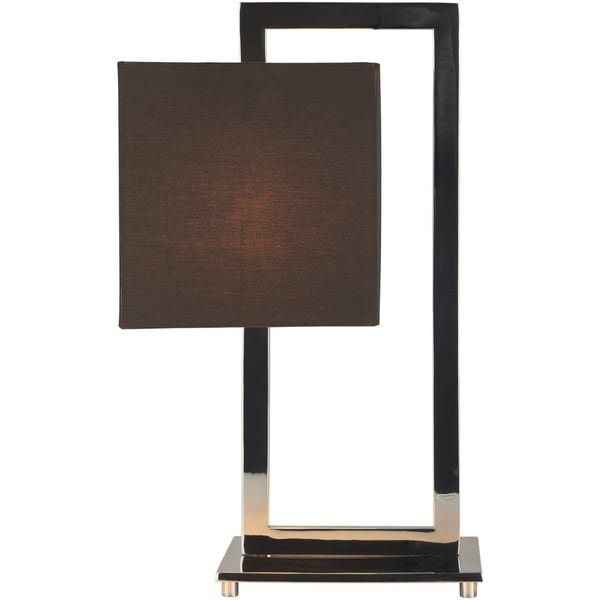 Gulau Table Lamp with Black Base and Brown Shade
