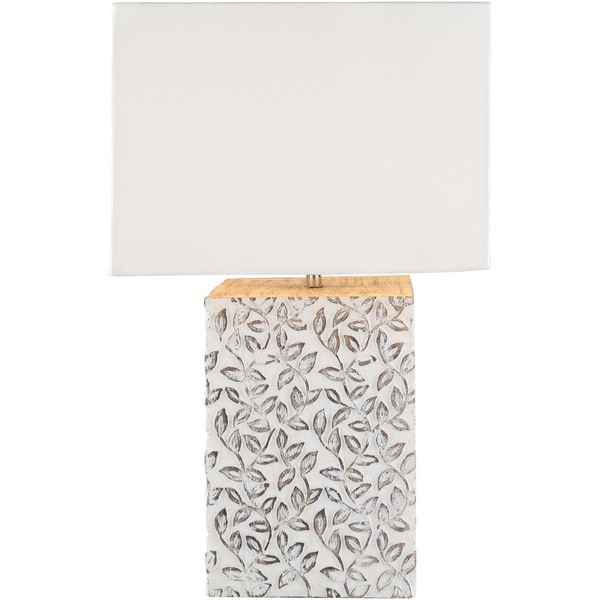 Wolfgrim Table Lamp with White Base and White Shade