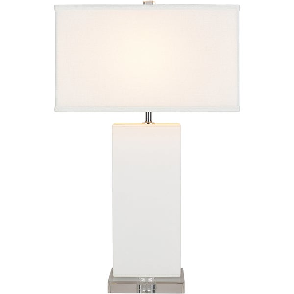 Lenwuti Table Lamp with White Base and White Shade