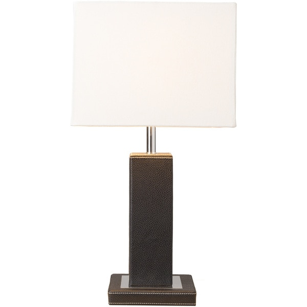 Alek Table Lamp with Black Base and White Shade