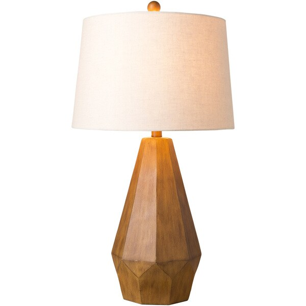 Griffith Table Lamp with Brown Base and White Shade