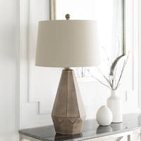 Sorandela Table Lamp with Grey Base and Grey Shade