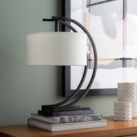 Draegan Table Lamp with Black Base and White Shade