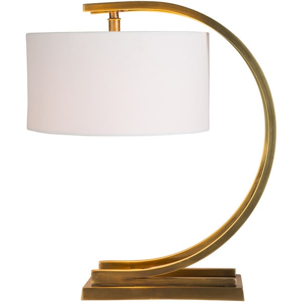 Tipeli Table Lamp with Brown Base and White Shade