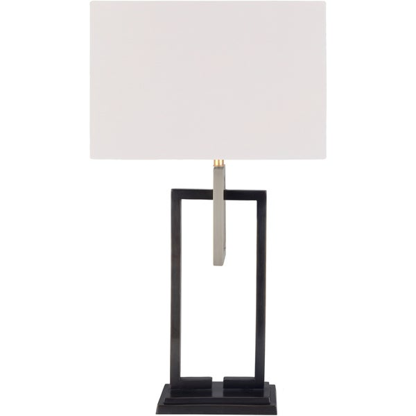 Elleret Table Lamp with Brown Base and White Shade