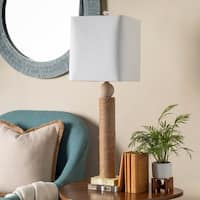 Ohati Table Lamp with Brown Base and White Shade