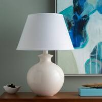 Nataine Table Lamp with Off-White Base and White Shade