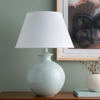 Altskyo Table Lamp with Blue Base and White Shade