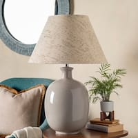 Lida Table Lamp with White Base and Off-White Shade