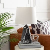 Hydra Table Lamp with Black Base and White Shade