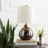Rosestrider Table Lamp with Brown/Clear Base and White Shade
