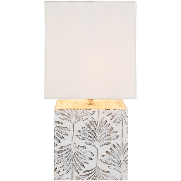 Alus Table Lamp with White Base and White Shade