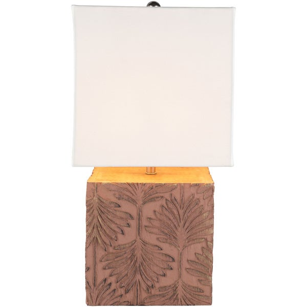 Shei Table Lamp with Brown Base and White Shade
